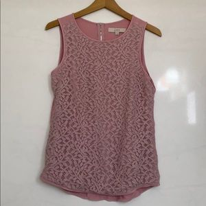 Loft Short Sleeve top with lace